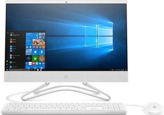 """купить Моноблок HP 22 22-c0027ur <4GQ79EA> i3-8130U (2.2-3.4GHz)/8Gb/1TB+128GB SSD/no DVD/21.5"""" (1920x1080)/GT MX110 2GB/WiFi/KB+mouse/Win10/Snow White онлайн"""
