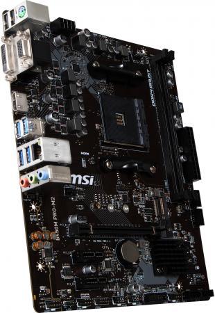 Материнская плата MSI B450M PRO-M2 Socket AM4 AMD B450 2xDDR4 1xPCI-E 16x 2xPCI-E 1x 4 mATX Retail цены