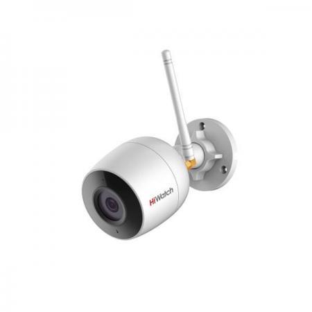 IP-камера HiWatch DS-l250W (2.8mm) 2Мп внутренняя IP-камера c ИК-подсветкой до 30м и Wi-Fi 1/2.8'' CMOS матрица; объектив 2.8мм; угол обзора 114°; мех камера hiwatch ds t201 2 8 mm 2мп внутренняя купольная hd tvi камера с ик подсветкой до 20м 1 2 7 cmos матрица объектив 2 8мм угол обзора 103°