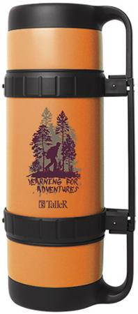 Термос TalleR TR-2416 Оливер 1,60л оранжевый чёрный