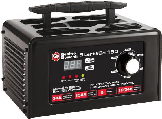 Пуско-зарядноеустройствоQUATTROELEMENTIStart&Go150 (12/24Вольт,заряддо30А,пускдо150 инвертор quattro elementi b 205 205 а пв 80% до 5 0 мм 5 3 кг дисплей tig lift от 170в кейс