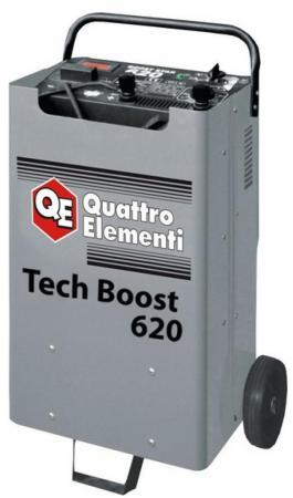 Пуско-зарядноеустройствоQUATTROELEMENTI771-473 TechBoost620 (12/24Вольт,заряддо90А,пу инвертор quattro elementi b 205 205 а пв 80% до 5 0 мм 5 3 кг дисплей tig lift от 170в кейс