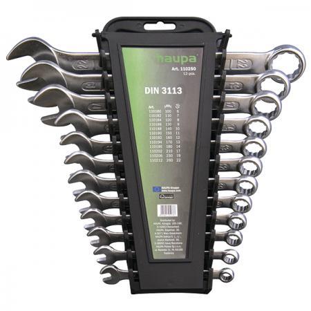Набор комбинированных ключей HAUPA 110250 (6 - 22 мм) 12 шт. цены онлайн
