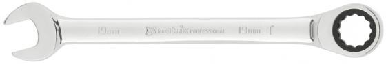 Ключ MATRIX 14812 комбинированный трещоточный 19мм crv зеркальный хром ключ телескопический трещоточный 1 4 150 200 мм crv хромир 2 х комп рукоятка gross