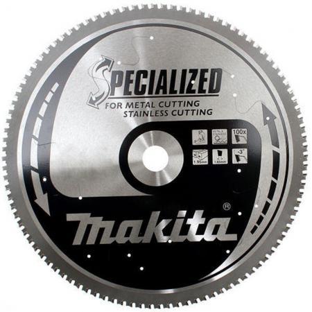 Круг пильный MAKITA B-35380 305х25.4х2.3 100зуб. по нерж. стали диск пильный makita 305х25 4мм 100зубьев b 35380