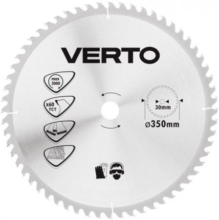 Круг пильный твердосплавный VERTO 61H144  350x30мм 60зубьев (Verto) Дарьинское самый дешевый инструмент