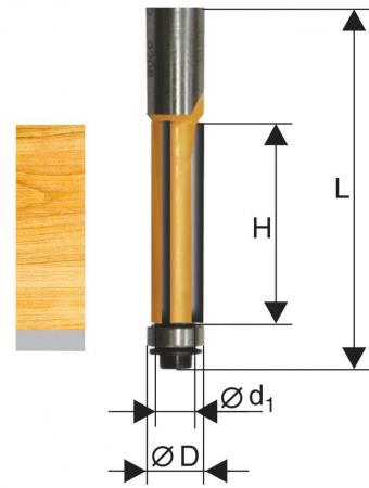 Фреза ЭНКОР 10653 кромочная прямая ф12.7х38мм хв12мм фреза кромочная прямая d12x19 мм