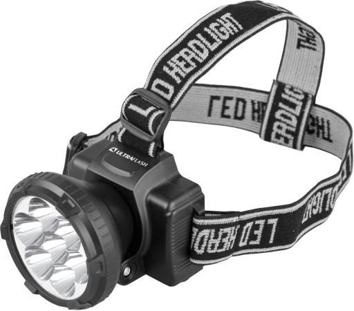 Фото - Фонарь ULTRAFLASH LED5362 налобн аккум 220в черный 7led 2 реж пласт бокс интерскол да 14 4эр акк дрель шуруп дм [596 0 2 00] li ion 2 аккум 1 5ач