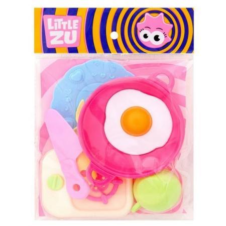 Набор посуды Little Zu товим завтрак 900433 набор фигурок little zu динозавры 90050в