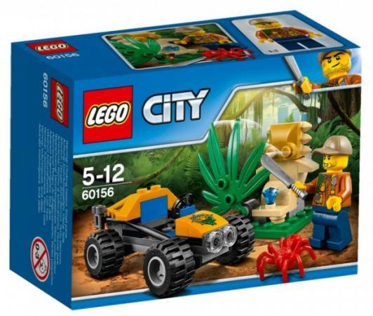 Конструктор LEGO 60156 Багги для поездок по джунглям 53 элемента lego lego city 60156 багги для поездок по джунглям