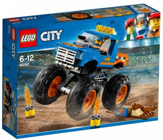 Конструктор LEGO 60180 Монстр-трак 192 элемента lego city great vehicles 60180 монстр трак конструктор