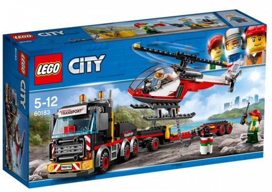 Конструктор LEGO 60183 Перевозчик вертолёта 310 элементов lego city great vehicles конструктор перевозчик вертолета 60183