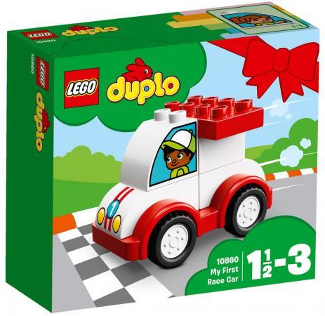 Конструктор LEGO Мой первый гоночный автомобиль 6 элементов lego lego duplo my first мой первый гоночный автомобиль