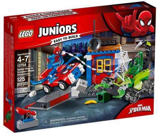 Конструктор LEGO Решающий бой Человека-паука против Скорпиона 125 элементов 10754