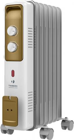 Масляный радиатор Timberk TOR 21.1005 BCX 1000 Вт белый серый бронзовый масляный обогреватель timberk tor 21 1507 bcx i