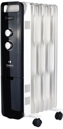 Масляный радиатор Timberk TOR 51.1507 BTQ 1500 Вт белый чёрный масляный радиатор saturn st oh0425 1500 вт белый