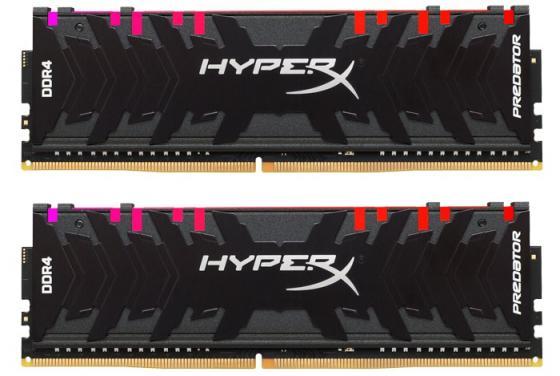 Kingston DDR4 DIMM 16GB Kit 2x8Gb HX432C16PB3AK2/16 {PC4-25600, 3200MHz, CL16, HyperX Predator, RGB} модуль памяти patriot memory ddr4 dimm 3200mhz pc4 25600 cl16 16gb kit 2x8gb pvr416g320c6k