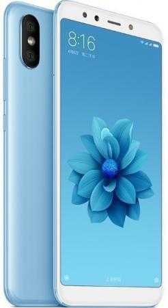 Смартфон Xiaomi Mi A2 синий 5.99 64 Гб LTE Wi-Fi GPS 3G MiA2GB64BLU смартфон xiaomi mi a2 lite 32 гб синий mia2lt32gbblu