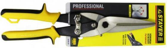 Ножницы по металлу рычажные STAYER MAX-Cut 290мм, прямые удлиненные, кованая Cr-V сталь, холоднокатанная сталь-1,0мм, нерж сталь-0,5мм [23055-29]