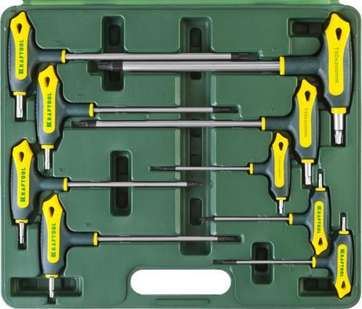 Набор ключей KRAFTOOL 27455-H9 industrie cr-mos2 т-образные двухкомп рукоятка torx hole 10-50 9шт