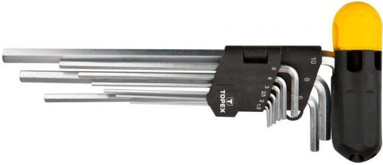 Набор ключей TOPEX 35D962 ключи шестигранные 1.5-10мм набор 9шт.