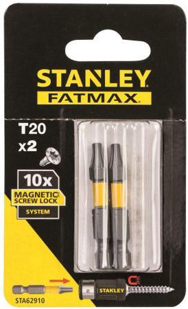 Биты STANLEY STA62910-XJ FatMax Magnetic Screw Lock T20х50мм, 2 шт бита stanley sta62041 xj fatmax torsion pz2х25мм 2 шт