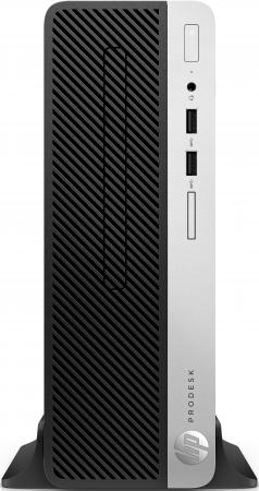 ПК HP ProDesk 400 G5 SFF i3 8100 (3.6)/4Gb/SSD128Gb/UHDG 630/DVDRW/Windows 10 Professional 64/GbitEth/180W/клавиатура/мышь/черный пк hp 280 g2 sff i3 6100 4gb 500gb 7 2k hdg dvdrw windows 10 professional 64 eth клавиатура мышь