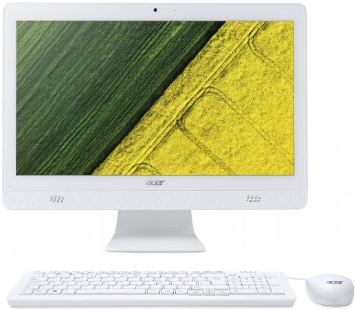 Моноблок Acer Aspire C20-820 19.5 HD+ Cel J3060 (1.6)/4Gb/500Gb 5.4k/HDG400/CR/Linux/GbitEth/WiFi/BT/45W/клавиатура/мышь/Cam/белый 1600x900 моноблок acer aspire c20 720 dq b6zer 009 белый