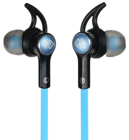 Гарнитура вкладыши Digma BT-03 черный/синий беспроводные bluetooth (в ушной раковине) гарнитура digma bt 11 белый l100bt