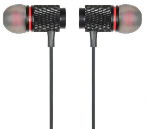 Гарнитура вкладыши Digma BT-05 черный/красный беспроводные bluetooth (в ушной раковине) гарнитура motorola verve loop вкладыши черный беспроводные bluetooth