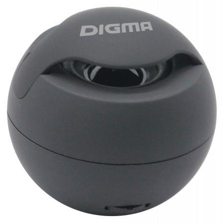 лучшая цена Колонка порт. Digma S-11 черный 3W 1.0 BT/USB (SP113B)