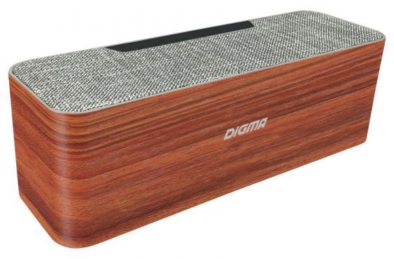 Колонка порт. Digma S-42 дерево 10W 1.0 BT/USB (SP4210BR) цена и фото