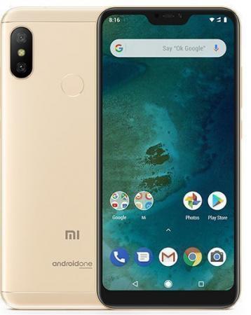 Смартфон Xiaomi Mi A2 Lite золотистый 5.84 32 Гб LTE Wi-Fi GPS 3G MiA2Lt32GBGLD смартфон meizu 15 lite красный 5 46 32 гб lte wi fi gps 3g