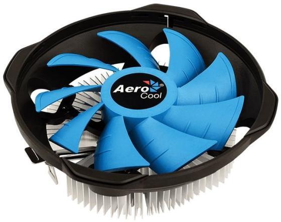 Устройство охлаждения(кулер) Aerocool BAS U-PWM Soc-FM2+/AM2+/AM3+/AM4/1150/1151/1155/ 4-pin 15-26dB Al 110W 361gr Ret вентилятор glacialtech icehut 1010 pwm soc 1150 1155 1156 4pin 18 35db al 87w 330g клипсы bulk