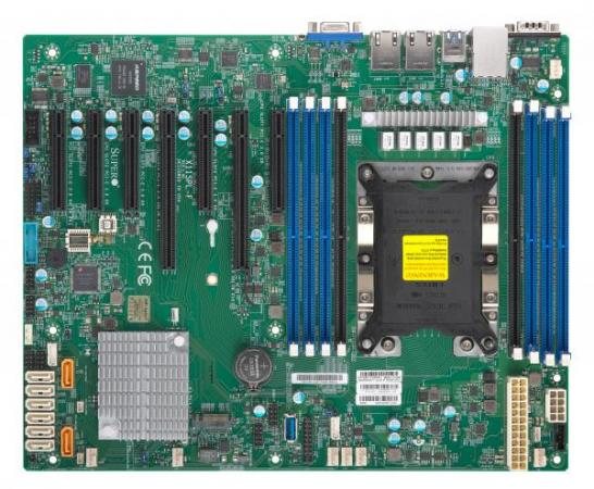 Материнская плата Supermicro MBD-X11SPL-F-O Socket 3647 C621 8xDDR4 1xPCI-E 4x 6xPCI-E 8x 8 ATX Retail материнская плата supermicro mbd x10sle f p socket 1150 c224 4xddr3 1xpci e 8x 4xsataiii нестандартный