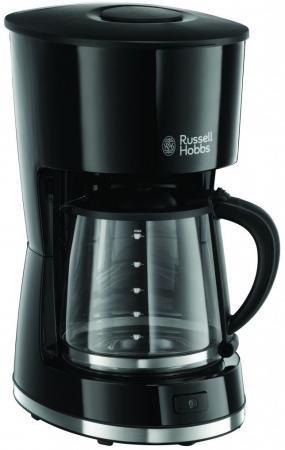 Кофеварка Russell Hobbs 21420-56, капельная, д/молотово, 1000Вт, 1.25л, автооткл, автоподогрев, противокапля, черный кофеварка moulinex fg360830 капельная 1000вт 1 25л черный