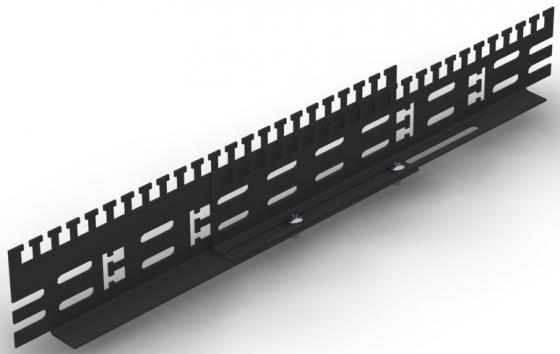 Кабельный органайзер, универсальный, чёрный, для глубины 1000 мм, NT CO-D10 VA B кабельный органайзер 19 чёрный горизонтальный 1u nt co h b