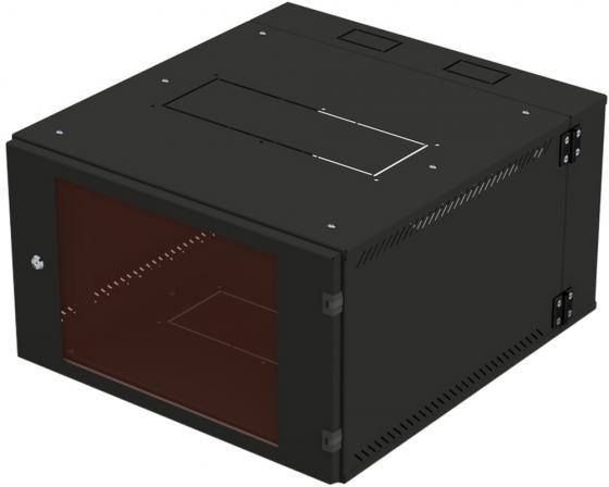 Шкаф 19 настенный, 15U 600x660, двухсекционный, дверь стекло-металл, чёрный, NT WALLBOX PRO 15-66 B
