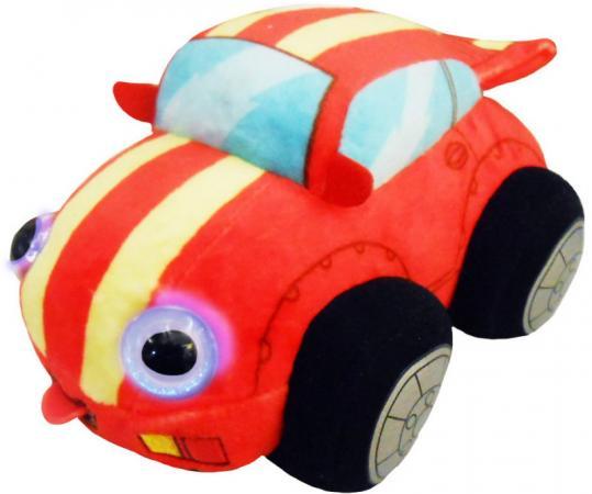 Мягкая игрушка машинка 1toy Дразнюка-Биби. Гоночная машинка 15 см текстиль пластик плюш наполнитель 1toy мягкая игрушка fifa 2018 1toy волк забивака 28 см
