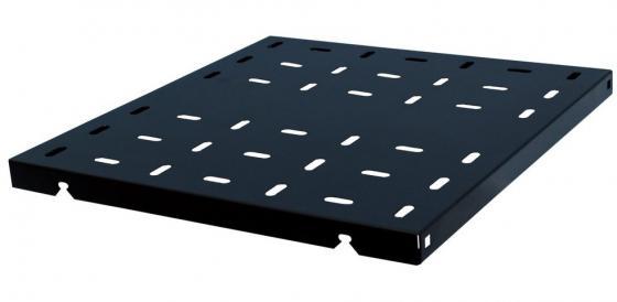 Полка 19 усиленная, чёрная L=580 мм, перфорированная, грузоподъемность 100 кг, NT SSt580 B