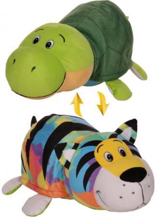 Купить Мягкая игрушка Вывернушка 40 см 2в1 Тигр-Черепаха, 1toy, Мягкие игрушки