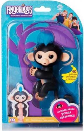 Интерактивная игрушка обезьянка Fingerlings обезьянка Финн 12 см черный 3701A интерактивная игрушка обезьянка wowwee fingerlings финн пластик черный 12 см 3701a
