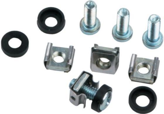 Набор крепления оборудования, винт, гайка клетевая, шайба, 50 шт, NT SH-M6-50 цв nt 30110 50 г