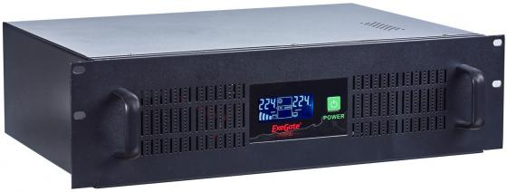 Exegate EP270874RUS ИБП Exegate Power RM Smart UNL-1500 LCD <1500VA, Black, 2U, 3 евророзетки, USB> аккумулятор для ибп exegate power exg12140