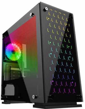 Корпус microATX GameMax H605-TB Без БП чёрный