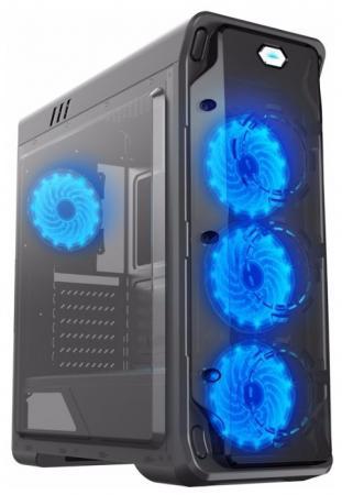 цена на Корпус ATX GameMax StarLight-B-Blue Без БП синий чёрный