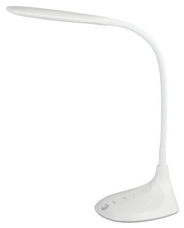 ЭРА Б0019128 Настольный светодиодный светильник NLED-452-9W-W белый {5 ступенчатый диммер яркости, цвет. температура 3000/4500/6500К}