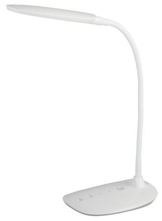 ЭРА Б0019130 Настольный светодиодный светильник NLED-453-9W-W белый {5 ступенчатый диммер яркости, цвет. температура 3000/4500/6500К}