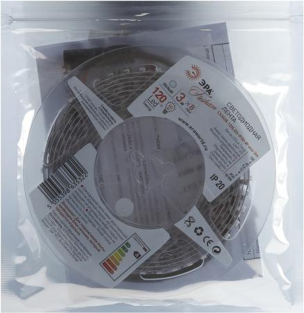 цена на ЭРА Б0002327 Лента светодиодная 9,6Вт/м LS3528-120LED-IP20-W-eco-3m Холодный белый {Лента светодиодная 3м/8мм}