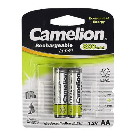 Camelion AA- 800mAh Ni-Cd BL-2 (NC-AA800BP2, аккумулятор,1.2В)